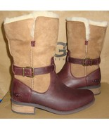 UGG Australia PERNILLE Chestnut Leather Lined Boots Size US 7 NIB #10160... - $133.60