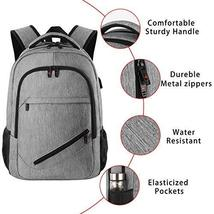 Laptop Backpack,Business Travel Slim Durable Laptops Backpack with USB Charging  image 4
