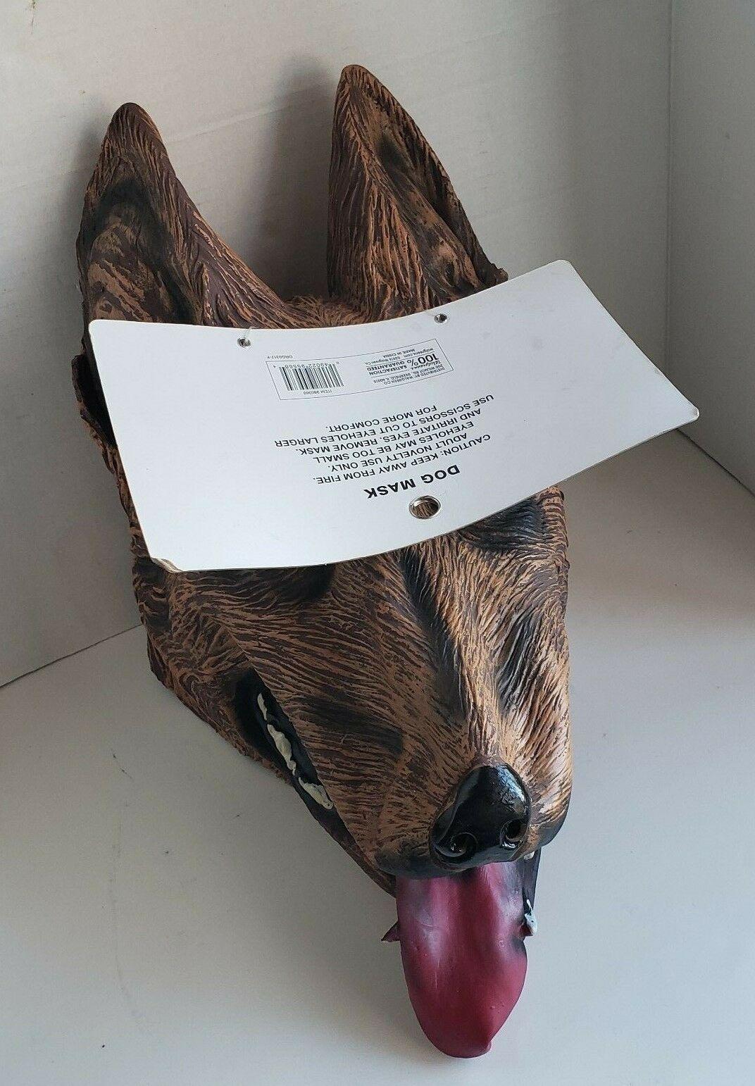 Dog Face Mask Shepherd Pranks Dress Up Adult Costume Halloween Rubber One Size