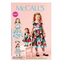 McCall Pattern Company M6875 Children's/Girls'/18-Inch Dolls' Dresses Sewing Tem - $14.21