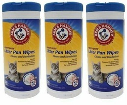 (Pack of 3) Arm & Hammer Litter Pan Cleaner 30 Count - $20.78