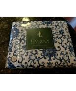 Rare Ralph Lauren Porcelain Blue Rosette Full Fitted Sheet NIP - $86.52