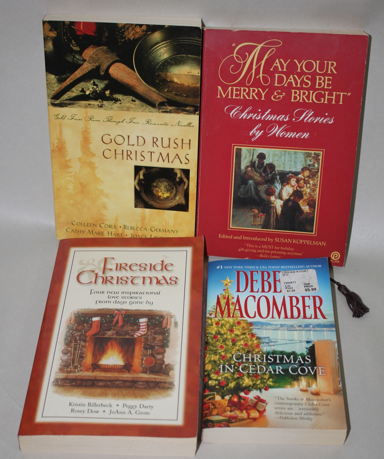 Christmas Stories Paperback Book Reading Lot of 4 Books