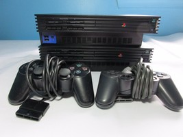 2 Sony PlayStation 2 PS2 Fat Consoles Plays DVD Games Not CD's For Parts... - $29.99