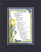 Handmade Inspirational Plaque for Love -  An Ode to My Wife... - $17.77