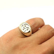 Handmade 925 Sterling Silver Bdsm Celtic Spiral Signet Ring - Hot Wife Gift - $62.00