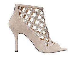 MICHAEL Michael Kors Women's Yvonne Open Toe Bootie, Grey Size 6.5, 7 image 4