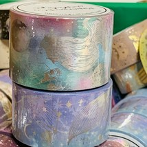 SEALED PAPERGEEK MERMAID Sold Out Silver FOIL WASHI SET 33 Feet Rolls 2 ROLL SET image 2