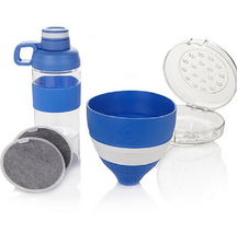 JOY Mangano Miracle Clean Water Filter Set with Case and Bottle , Blue - $17.72