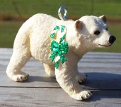 Custom Made Safari Polar Bear Cub Holiday Christmas or Breast Cancer Orn... - $18.00