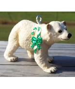 Custom Made Safari Polar Bear Cub Holiday Christmas or Breast Cancer Ornament #3 - $18.00