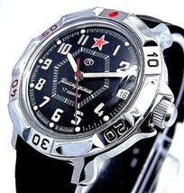 Russian Vostok Military Komandirskie Watch # 811744 New - $53.50