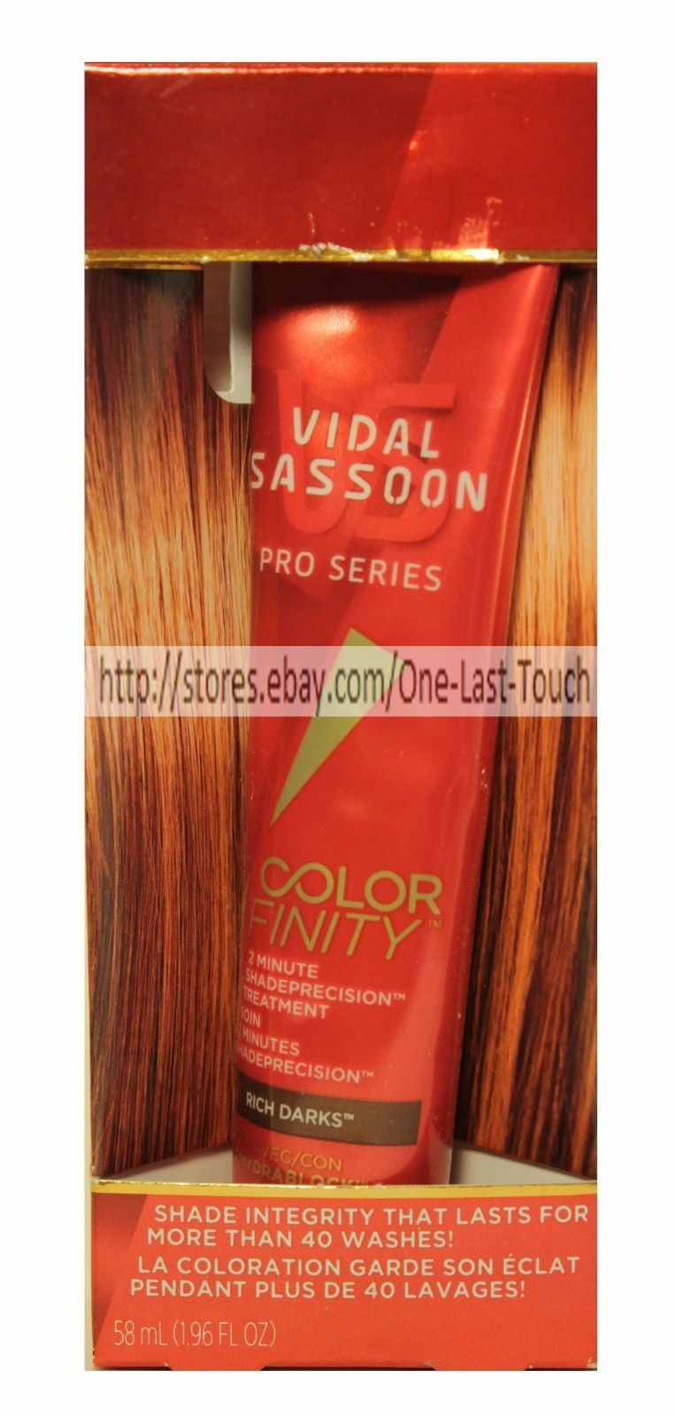 VIDAL SASSOON*Color Finity 2 MINUTE SHADE PRECISION Pro Series RICH DARKS Trtmnt