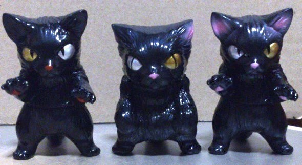 MaxToy Set of 3 Black Cats