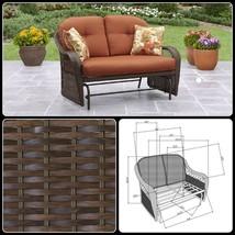 Outdoor Glider Loveseat Deck Porch Patio Garden Cushioned Furniture For ... - $327.11