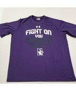 NWOT Northwestern Wildcats Fight On Purple Under Armour T-Shirt 2XL New ... - $17.81