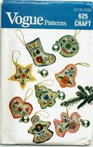 Vogue Sewing Pattern 625 Christmas Ornaments with Transfers Vintage  - $11.69