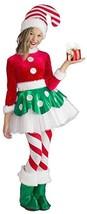 Princess Paradise Candy Cane Elfo Princesa Niños Disfraz de Navidad 4789 - $52.49