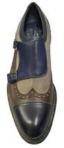 Premium Leather Multi Color Classical Monk Rounded Cap Toe Men Vintage Shoes - $139.90+