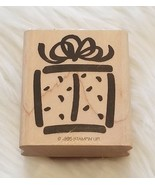 Stampin Up Bold Birthday Wood Mounted Rubber Stamp Present Gift Vintage ... - $5.86