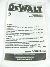 DeWALT DCD991 DCD996 User Manual OEM  - $7.95