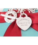 "Tiffany & Co Silver Return To Heart Toggle Necklace 16.5"" - $400.00"