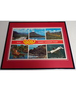 VINTAGE 1970s Oahu Hawaii Framed 16x20 Poster Display - $79.19