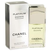 Chanel Egoiste Platinum Pour Homme Cologne 1.7 Oz Eau De Toilette Spray image 2