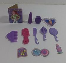 Vintage Barbie Vanity Accessory Lot 12 Mattel Purple Mini Diorama Bathroom  - $9.99