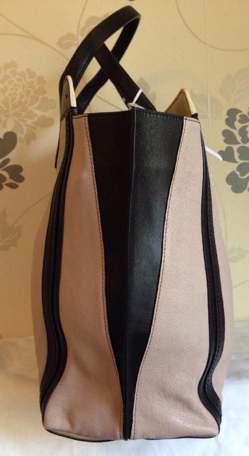 Chloe Alison Leather Tote Bag Tea Petal and Black Medium Handbag
