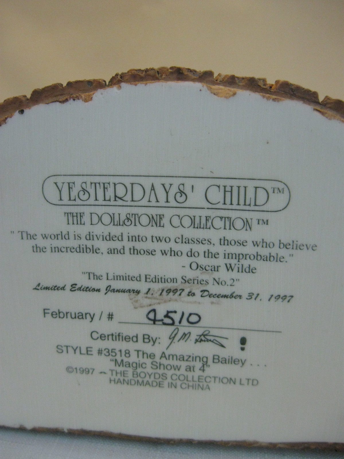 Yesterdays Child Figurine The Magic Show at 4 Limited Edition Boyd's Collection image 7