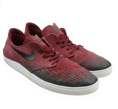 Nike SB Lunarlon Oneshot Mens Red Suede Skateboard Shoes Sneakers 13 631... - $34.64