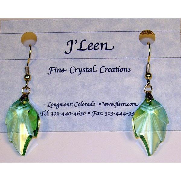 Crystal leaf earrings jeglf32pe 01