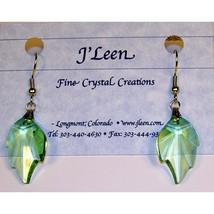 Crystal Leaf Earrings image 1