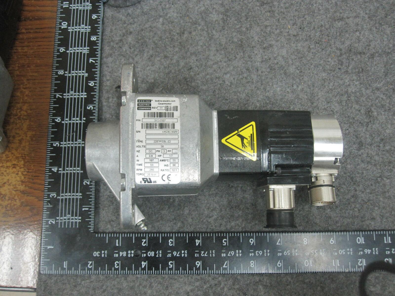 Bodine Electric 22B3FEBL-Z2 DC Gear Motor 38VDC 310-0057