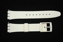 12mm Ladies White Soft PVC Compatible  Band Strap fits SWATCH watches - $9.95