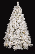 Heavy Flocked White Long Needle Pine Christmas Tree 7.5 ft Tall  - $759.99