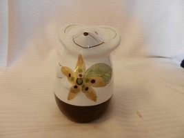 """Ceramic Smiling Mouse Parmesan Cheese Shaker 5"""" Tall White & Brown - $34.64"""
