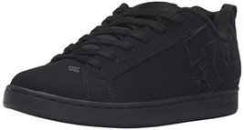DC Kids Youth Court Graffik Skate Shoes Skateboarding Black, 11 M US - $56.66
