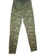 New $225 Designer J Brand Jeans Womens 26 Camouflage Camo Army Dark Gree... - $112.50