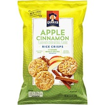 Quaker Rice Crisps, Apple Cinnamon, 7.04 oz Bags, 6 Count Packaging May Vary