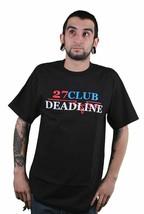 Deadline Hombre Negro 27 Club Gráfico Camiseta M L XL Nuevo Streetwear
