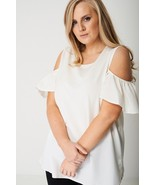 White Cold Shoulder Top Plus Sizes : 16, 18, 20, 22/24, 26, 28/30 Brand New - $14.03