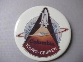 NASA pinback Columbia  Young-Crippen 1981 - $8.77