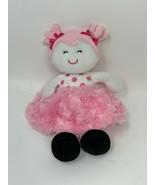 BABY STARTERS Plush Snuggle Buddy Pink Chevron Fuzzy Swirl Skirt Soft Do... - $14.00