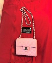 Auth Chanel Shoulder Bag Pink Fabric Mini Matelasse Vintage Crossbody Logo B4862 - $1,911.69
