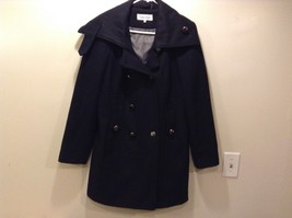 Calvin Klein Women's Navy Blue Double Breasted Pea Coat Sz 12