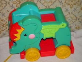 Fisher Price Elephant  Pull Toy No Blocks - $9.00