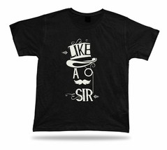 Like Ao sir Mustache black and white color stylish modern t shirt tee de... - $7.57