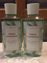 Set of 2 Bath & Body Works Fresh Gardenia Shower Gel Honeysuckle Aloe Sh... - $23.66